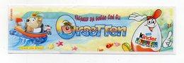 KINDER - 2001 - Cartina Serie ORSETTEN - (FDC15624) - Istruzioni
