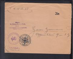 Dt. Reich Brief 1923 Polizei Präsident Berlin - Dienstpost