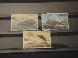 NORFOLK - 1982 BALENE 3 VALORI - NUOVO(++) - Norfolk Island