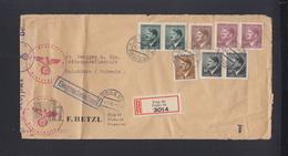 Böhmen Mähren R-Brief 1945 Prag Nach Schweiz - Occupazione 1938 – 45