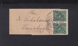 Dt. Reich Streifband Paar Nach Schweiz - Deutschland