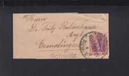 Dt. Reich Streifband 1922 EF Nach Schweiz - Deutschland
