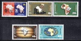 ETP178 - ETIOPIA 1973 ,  Yvert  N. 656/660 *** MNH  OUA - Ethiopia