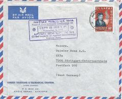 Ethiopia 1967 Addis Ababa Eleonor Roosevelt Human Rights Conference Applied Microbiology Handstamp Cover - Ethiopië