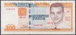 2010-BK-148 CUBA 2006 200$ FRANK PAIS. BANCO CENTRAL UNC REEMPLAZO REPLACEMENT HZ. - Cuba