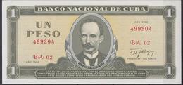 1988-BK-11 CUBA 1980 1$ JOSE MARTI. BANCO NACIONAL UNC. - Cuba