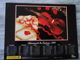 1997 Calendrier/ Almanach  De La Poste /instruments De Musique : PIANO, TROMPETTE, VIOLON - Calendriers
