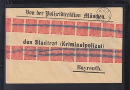 Dt. Reich Brief Polizei Direktion München 1923 An Kripo Bayreuth - Officials