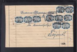 Dt. Reich Brief MeF Bahnpost An Kripo Bayreuth - Dienstpost