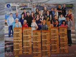 2010 Calendrier/ Almanach  De La Poste / PLUS BELLE LA VIE Avec Le Bar Du Mistral, Roland, Mirta, Ninon, Thomas, Florian - Tamaño Grande : 2001-...