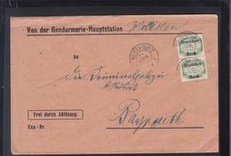 Dt. Reich Brief Gendarmerie Haupstation Weiden 1922 - Dienstpost