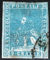 Toscana 1857 Sass.13 O/Used VF/F - Tuscany