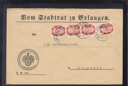 Dt. Reich Brief Stadtrat Erlangen 1922 - Dienstpost