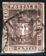Toscana 1860 Governo Provvisorio Sass.19 O/Used VF/FF - Toscana