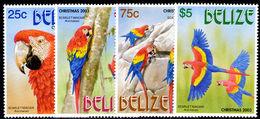 Belize 2003 Christmas. Scarlet-Macaw Unmounted Mint. - Belize (1973-...)
