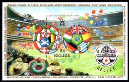 Belize 1986 World Cup Football Souvenier Sheet Unmounted Mint. - Belize (1973-...)