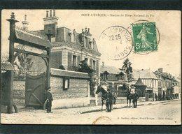 CPA - PONT L'EVEQUE - Station Du Haras National Du Pin, Animé - Pont-l'Evèque