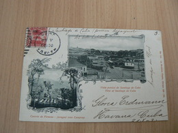 CP20/ CUBA HAVANA / CARTE VOYAGEE / 2 SCANS - Cartoline