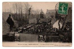 22  Environs De Callac  -  SAINT-SERVAIS  -  La Place Un Jour De Foire - France