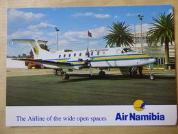 AIR NAMIBIA  BEECH 1900   AIRLINE ISSUE / CARTE COMPAGNIE - 1946-....: Modern Era