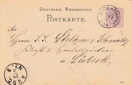 EP Michel P 10 Obl GÜLTZ IN POMMERN Du 27.3.85 Adressé à Lübeck - Briefe U. Dokumente