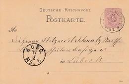 EP Michel P 10 Obl ANGERMÜNDE Du 17.2.85 Adressé à Lübeck - Cartas