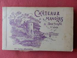 Dep 29 , 56 , Carnet De 19 Cp  CHATEAUX Et MANOIRS De BRETAGNE , 3° Série , Vues , Format 14 X 9 - Unclassified