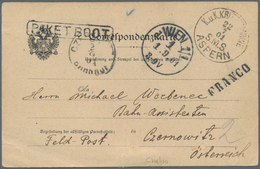 China - Fremde Postanstalten / Foreign Offices: 1901, Boxer Uprising, Austria Navy Mails, Crested Of - China