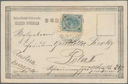 """China - Fremde Postanstalten / Foreign Offices: 1904/11, Austrian Cruiser """"SMS Kaiserlin Elisabeth"""" - China"""