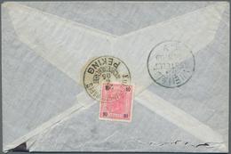 """China - Fremde Postanstalten / Foreign Offices: Austria, 1905, 10 K. Rose Tied """"K.u.K. GESANDSCHAFTS - China"""
