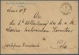 China - Fremde Postanstalten / Foreign Offices: 1905, Austrian P.O.China, Stampless Official Cover W - China