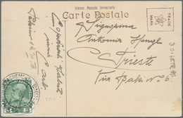 """China - Fremde Postanstalten / Foreign Offices: Austria, 1910/20: Trisected Circle """"K.u.K. MARINEDET - China"""