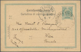 China - Fremde Postanstalten / Foreign Offices: Austria-Hungary, 1904/11, Navy, Single Circle Types: - China