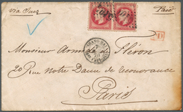 China - Fremde Postanstalten / Foreign Offices: 1867, China: Napoleon III Laureate, 80c Rose On Pink - China