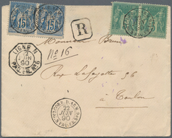 China - Fremde Postanstalten / Foreign Offices: France, 1890, Registered Envelope To Toulon/France B - China