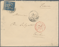 China - Fremde Postanstalten / Foreign Offices: France, 1890, Shanghai Military Mail Office, Forerun - China