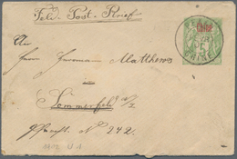 """China - Fremde Postanstalten / Foreign Offices: France, 1901, Stationery Envelope 5 C. Ovpt. """"Chine"""" - China"""