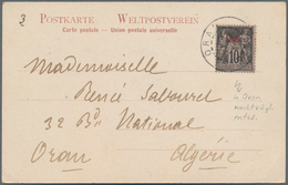 """China - Fremde Postanstalten / Foreign Offices: 1902, 10 C. Ovpt. """"Chine"""" Tied """"ORAN 7 FEVR 02"""" To P - China"""