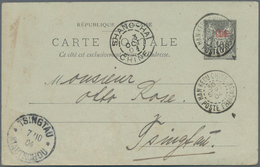 """China - Fremde Postanstalten / Foreign Offices: France, 1904, Card 10 C. Canc. """"HANKEOU 30 SEPT 04"""" - China"""