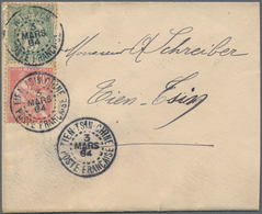 China - Fremde Postanstalten / Foreign Offices: France, 1904, 5 C. And 10 C. Mixed-issues Franking T - China