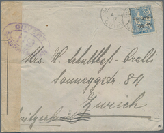 """China - Fremde Postanstalten / Foreign Offices: France, 1917, 10 C./25 Cts Tied """"SHANGHAI 4-4 17"""" To - China"""