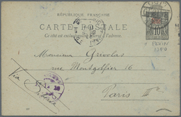 """China - Fremde Postanstalten / Foreign Offices: France, 1910, UPU Card 10 C. Tied """"PEKING I.J.P.O. . - China"""