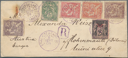China - Fremde Postanstalten / Foreign Offices: French Offices, 1904, Type Sage 25 C. And 50 C. W. N - China