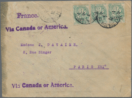 China - Fremde Postanstalten / Foreign Offices: French Offices, 1918. Envelope (soiled) Addressed To - China