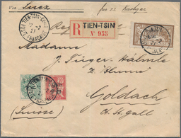 China - Fremde Postanstalten / Foreign Offices: French Offices, 1921, 4 C./10 Cts., 2 C./2 Cts. And - China