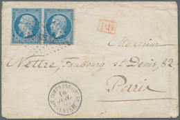 China - Fremde Postanstalten / Foreign Offices: French Military Office, 1860, Napoleon Imperf. 20 C. - China