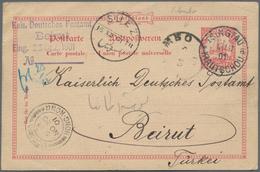 "China - Fremde Postanstalten / Foreign Offices: 1901, Kiautschou, UPU Card 10 Pf. ""TSINGTAU 13/11 01 - China"