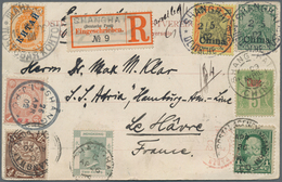 China - Fremde Postanstalten / Foreign Offices: 1902. Registered Picture Post Card Of 'General View - China
