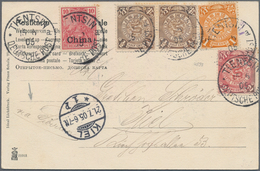 """China - Fremde Postanstalten / Foreign Offices: Germany, 1905, 10 Pf. Tied """"TIENTSIN 15/6 05"""" To Ppc - China"""
