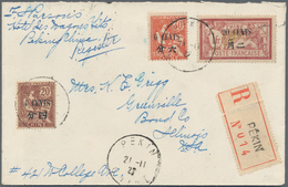 China - Fremde Postanstalten / Foreign Offices: 1912/22, Two Registered Covers Used Foreign: $1.74 T - China